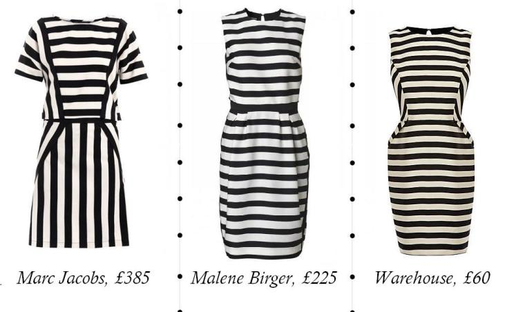 Striped Dresses Set with Text