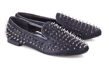 Romwe Studded Loafers